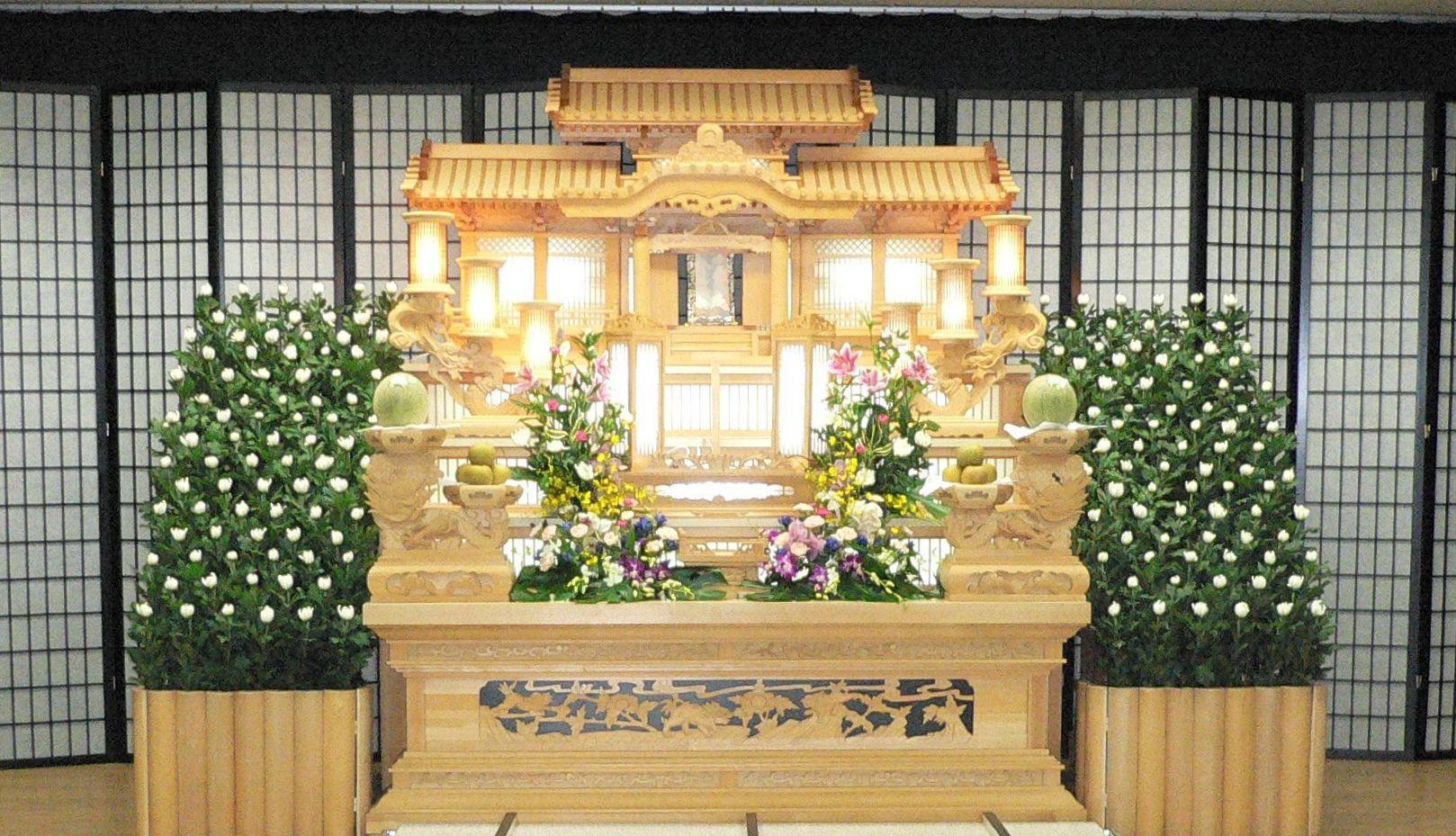 2F1-2 白木祭壇 スロープ付き